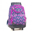 Rucsac PULSE Wheels Jeans flower