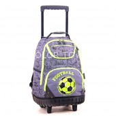 Rucsac PULSE Wheels Green Football