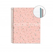 Caiet A4 linii 120 file Terrazzo Rose Grey MR