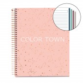Caiet A5 linii 120 file Constellation Rose Grey MR