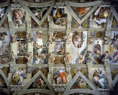 Puzzle Partial View of Ceiling fresco at the Sistine 140 piese