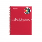 Caiet A4 linii 120 file coperta polipropilena Emotions Red MR
