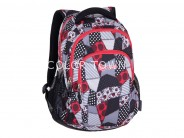 Rucsac PULSE Teens Red patch